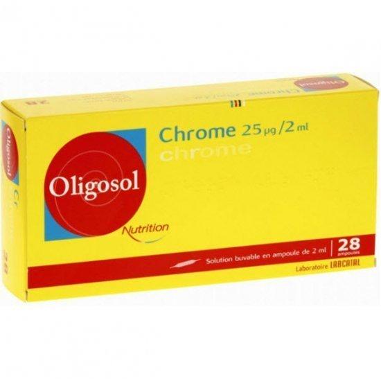 Labcatal Oligosol  Chrome 28 ampollas