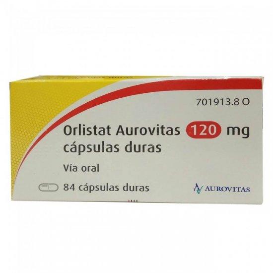 Orlistat Aurovitas 120 mg 84 cápsulas